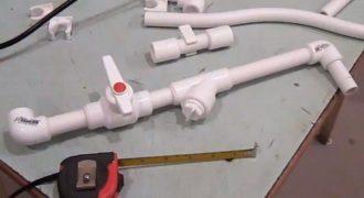 Сборка водопровода из полипропиленовых (ПВХ) труб своими руками