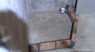 Строим душевую кабинку своими руками из кирпича и плитки