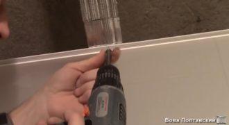Делаем потолок в ванной из пластиковых панелей своими руками