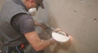 Штробим стены своими руками - используем болгарку?