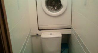 Установка стиральной машинки над унитазом! Экономим пространство!