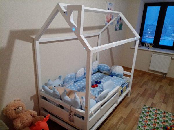 детская кроватка домик своими руками из брусков