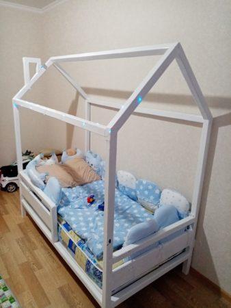 Чертежи для детской кроватки домика своими руками
