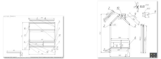 Чертежи кроватки-домика 160х80